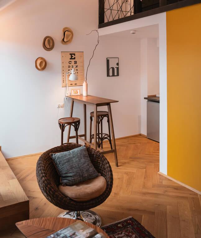 Interior for Split Level Studio Camino Cluj